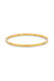 Julie Vos CRESCENT BANGLE GOLD PEARL-SMALL - Product Mini Image
