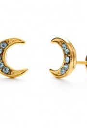 AMANO STUDIO Crescent Blue Moon Stud Earrings - Product Mini Image