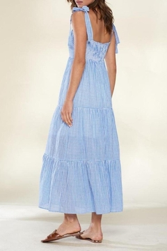 crescent Blue Skies Gingham Tiered Maxi Dress - Alternate List Image