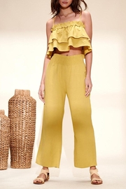 crescent Camile Two Piece Linen Set In Lime - Front cropped