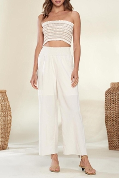 crescent Everyday Vacay Chic Two Piece Set In Ivory - Product List Image