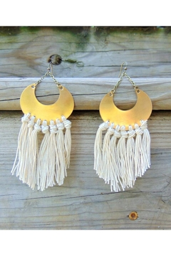 Dynamo Crescent Fringe Earrings - Alternate List Image