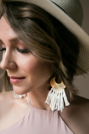 Dynamo Crescent Fringe Earrings - Product Mini Image