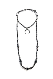 Nakamol Crescent-Moon Beaded Necklace - Product Mini Image