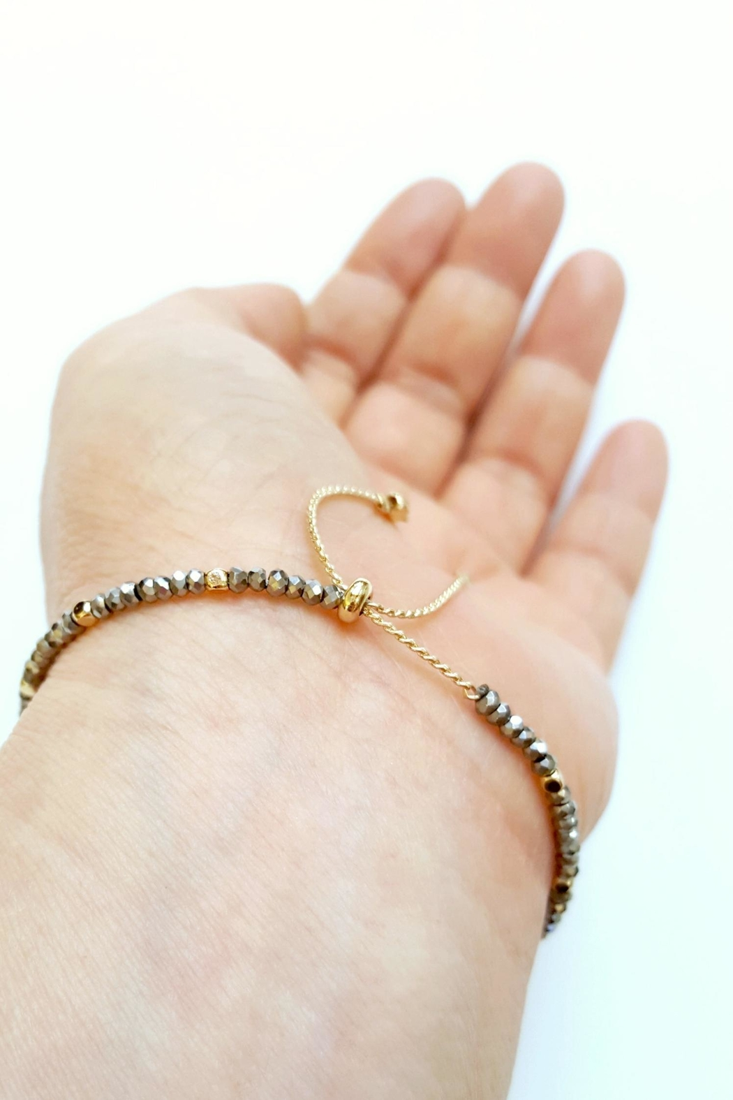 Simply Chic Crescent Moon Bracelet - Side Cropped Image