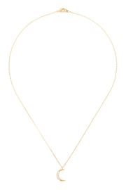 Riah Fashion Crescent-Moon Crystal-Pave-Necklace - Product Mini Image