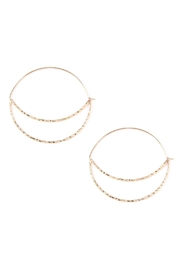 Riah Fashion Crescent-Moon Cut-Out Hoop-Earring - Product Mini Image
