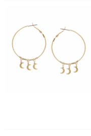 US Jewelry House Crescent Moon Dangle Hoop Earrings - Product Mini Image