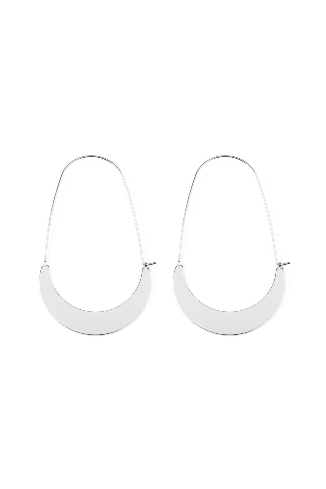 Riah Fashion Crescent-Moon Hoop Earring - Front Cropped Image