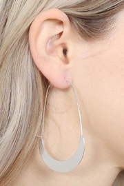 Riah Fashion Crescent-Moon Hoop Earring - Front full body