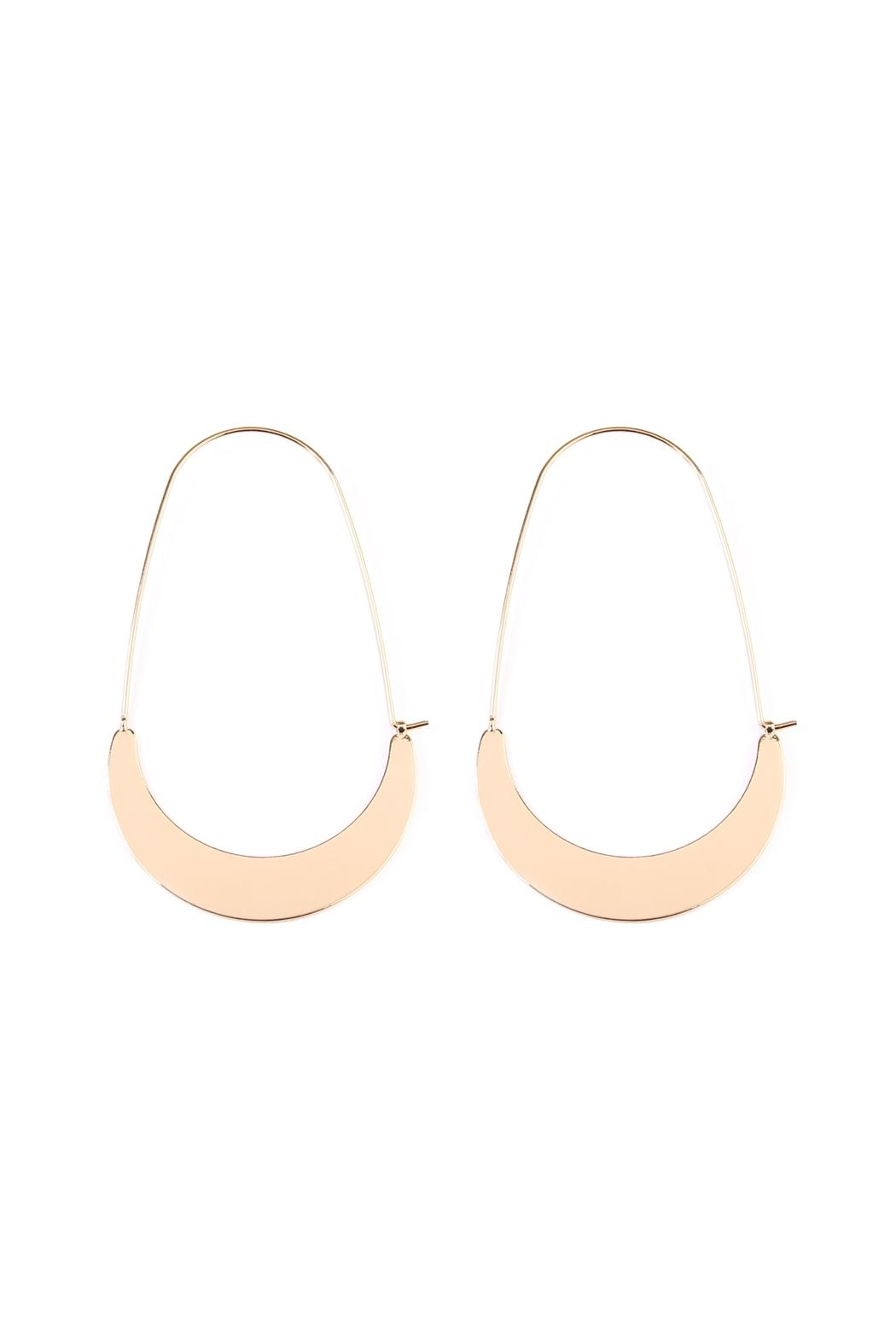 Riah Fashion Crescent-Moon Hoop Earring - Main Image