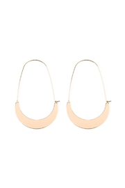 Riah Fashion Crescent-Moon Hoop Earring - Front cropped