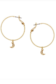 US Jewelry House Crescent Moon Hoop Earrings - Product Mini Image