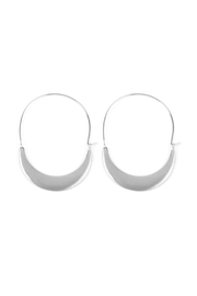 Riah Fashion Crescent-Moon Hoop Earrings - Product Mini Image