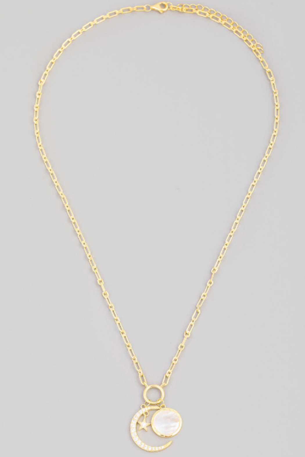 FAME ACCESORIES Crescent Moon Necklace - Front Full Image