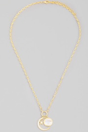 FAME ACCESORIES Crescent Moon Necklace - Front full body
