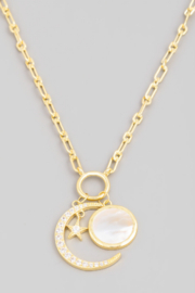 FAME ACCESORIES Crescent Moon Necklace - Front cropped
