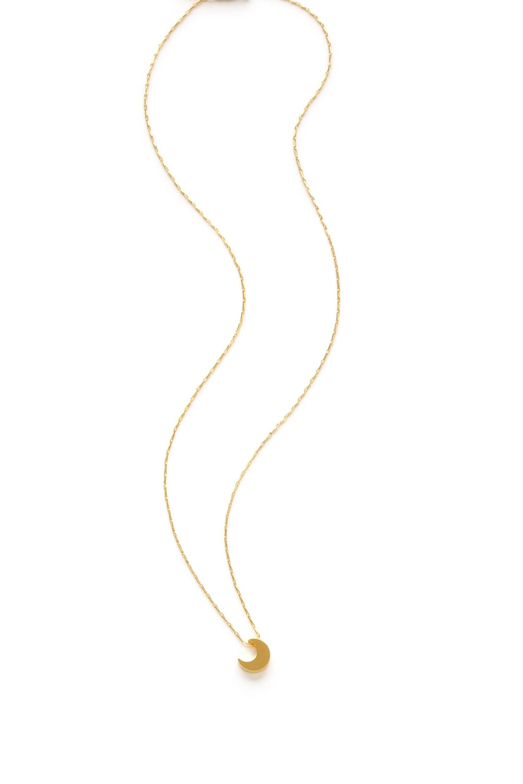 Amano Trading Crescent Moon Necklace - Front Full Image