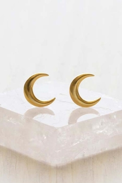 Amano Trading Crescent Moon Studs - Product List Image