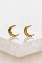 Amano Trading Crescent Moon Studs - Product Mini Image