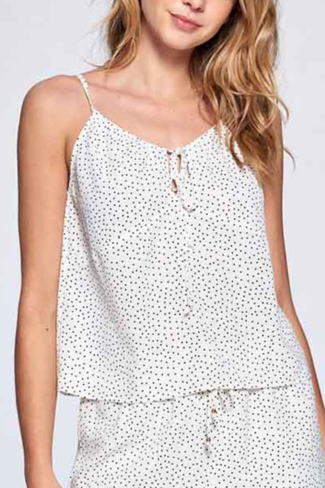 crescent Pindot Cami - Side Cropped Image