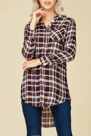 crescent Plaid Tunic Top - Product Mini Image