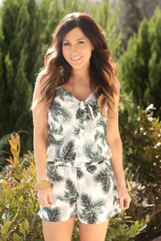 crescent Playful Hawaiian Romper - Front full body