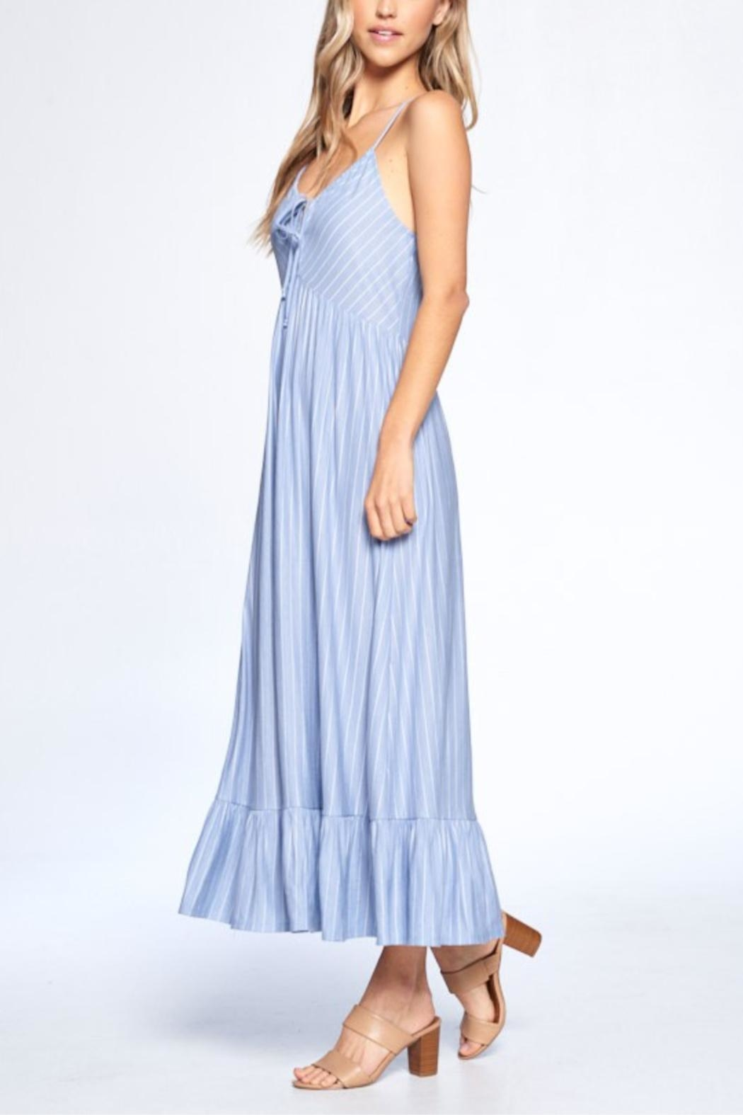 crescent Shannon Striped Dress - Side Cropped Image