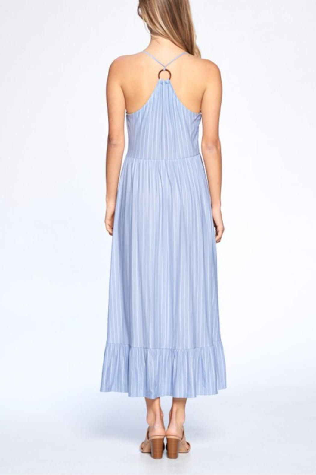 crescent Shannon Striped Dress - Back Cropped Image