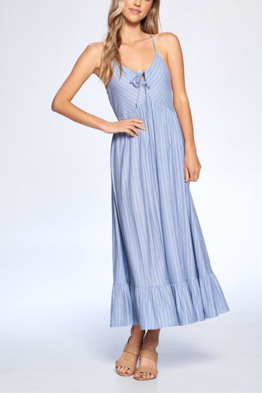 crescent Shannon Striped Dress - Main Image