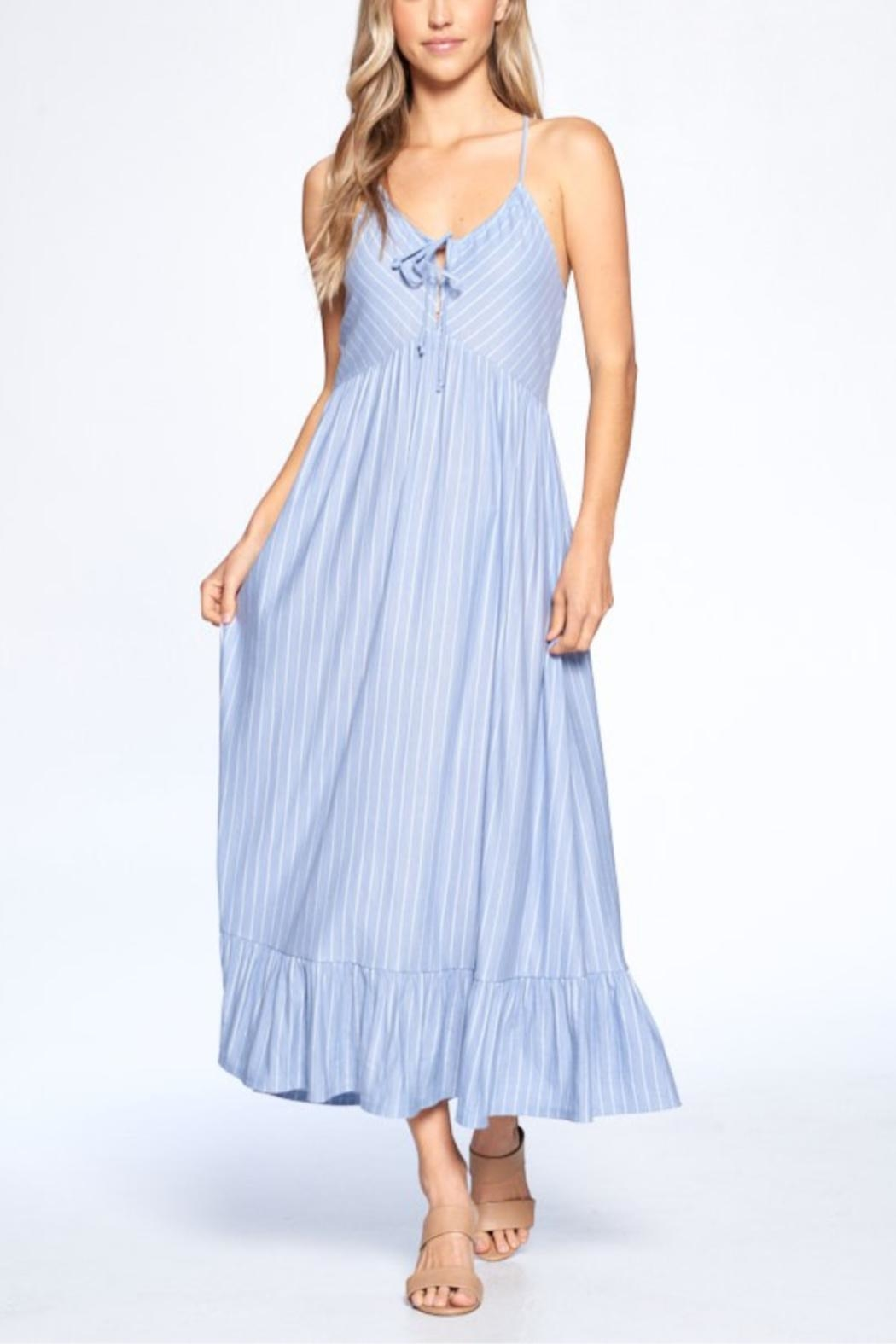 crescent Shannon Striped Dress - Front Full Image