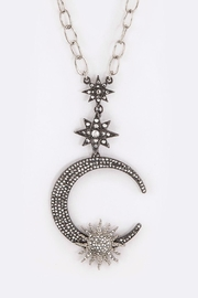 Nadya's Closet Crescent Star Necklace - Front cropped
