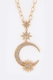 Nadya's Closet Crescent Star Necklace - Product Mini Image