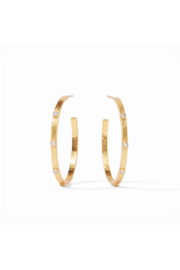 Julie Vos CRESCENT STONE HOOPS-LARGE - Product Mini Image
