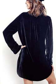 crescent Velvet Tunic Shirt - Front full body