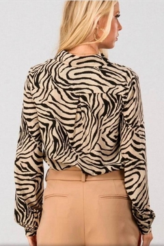 crescent Zebra Print Blouse - Alternate List Image