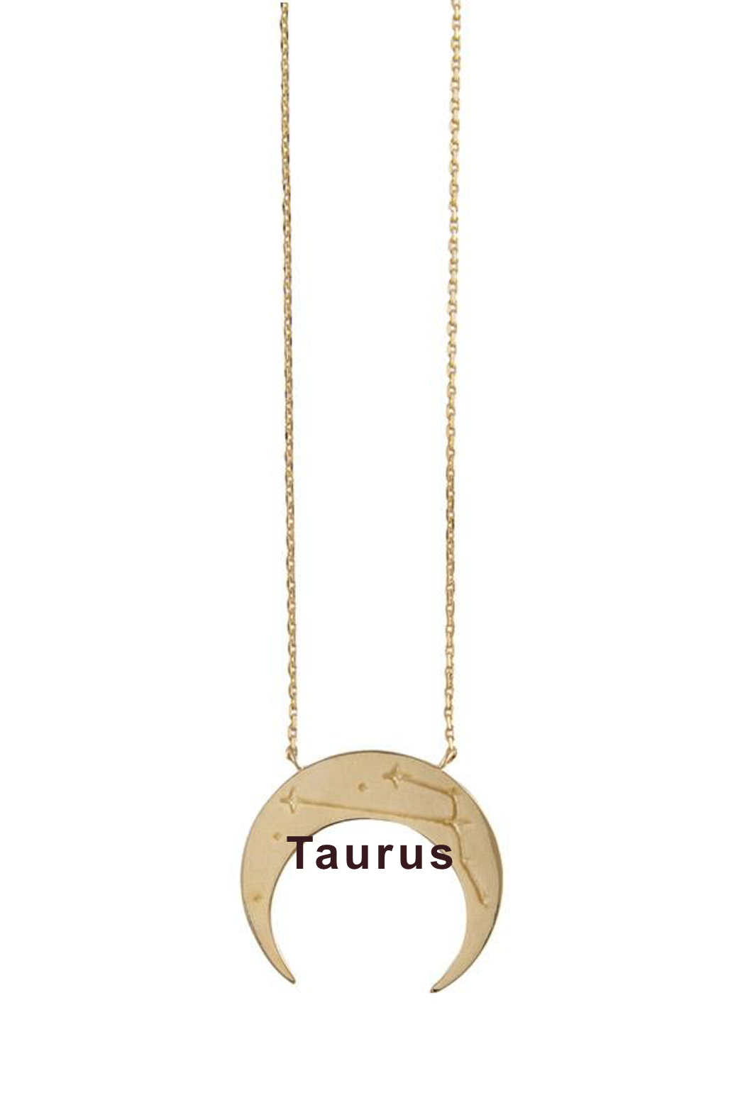 Wanderlust + Co Crescent Zodiac Necklace - Front Cropped Image