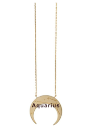 Wanderlust + Co Crescent Zodiac Necklace - Other