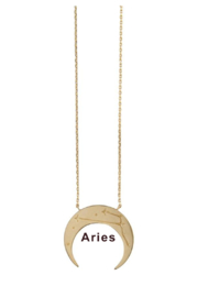 Wanderlust + Co Crescent Zodiac Necklace - Front cropped
