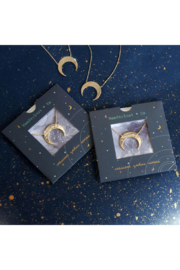 Wanderlust + Co Crescent Zodiac Necklace - Back cropped