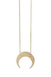 Wanderlust + Co Crescent Zodiac Necklace - Product Mini Image