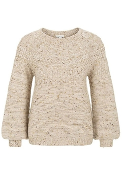 Tribal  Crew Neck Cable Sweater - Alternate List Image