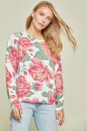 Andree  Crew Neck Floral Sweater - Product Mini Image