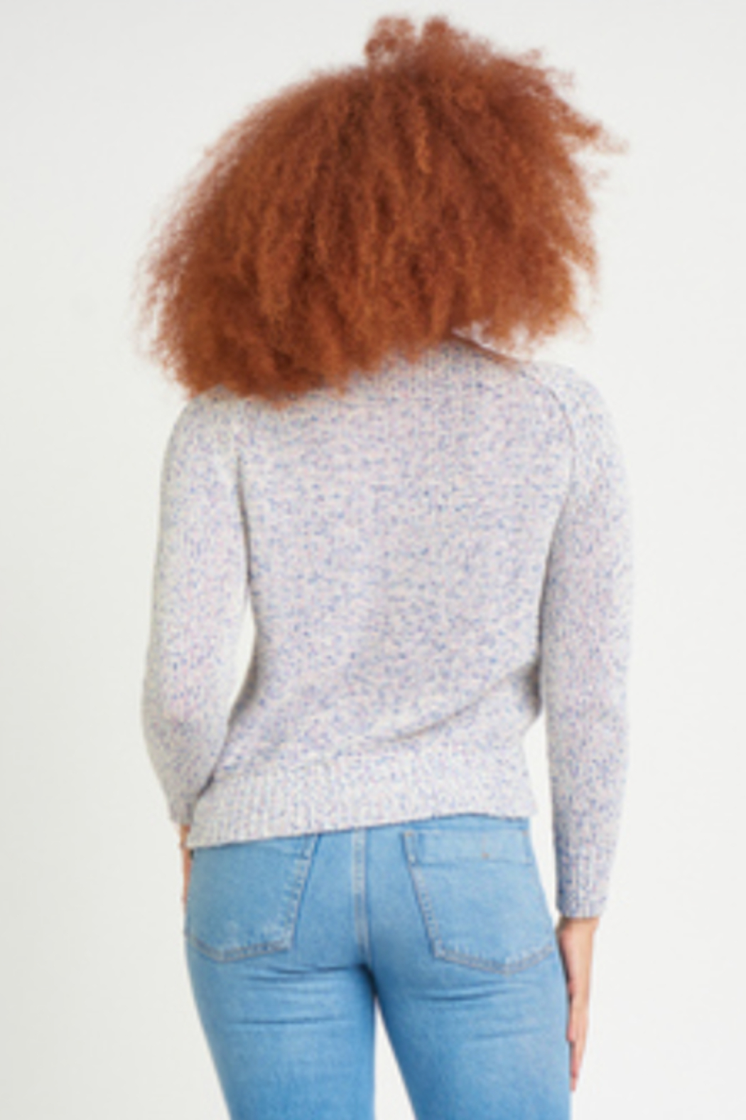 Dex CREW NECK RIBBON KNIT SWEATER - Side Cropped Image