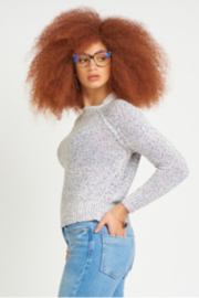 Dex CREW NECK RIBBON KNIT SWEATER - Front cropped