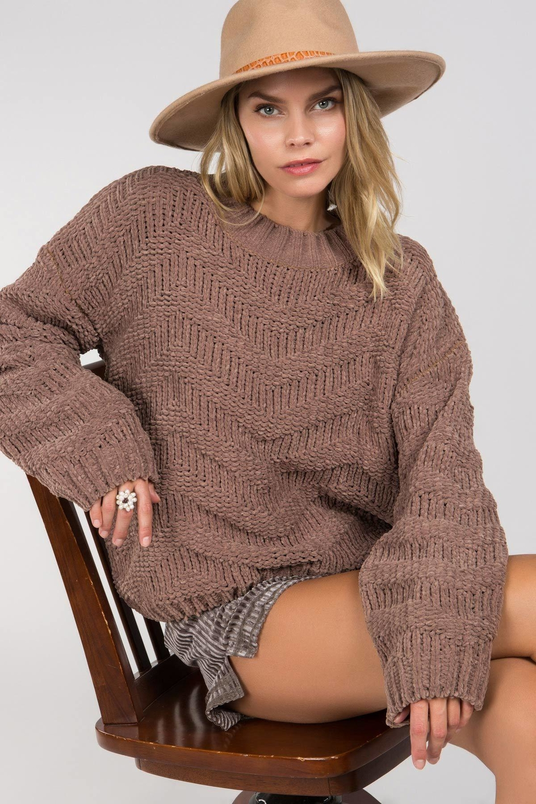 Unknown Factory Crew Neck Sweater - Side Cropped Image