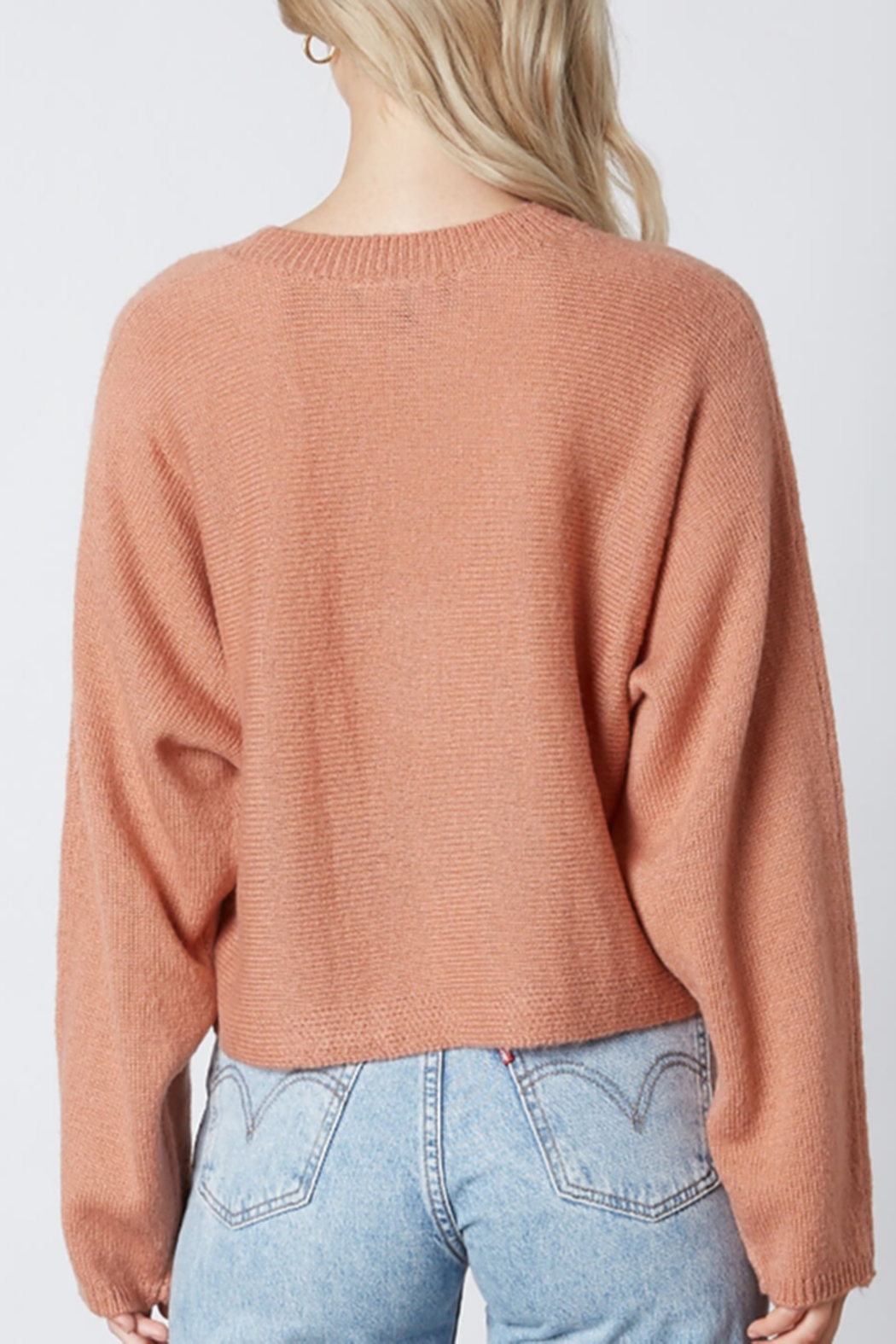 Cotton Candy  Crew Neck Sweater - Side Cropped Image