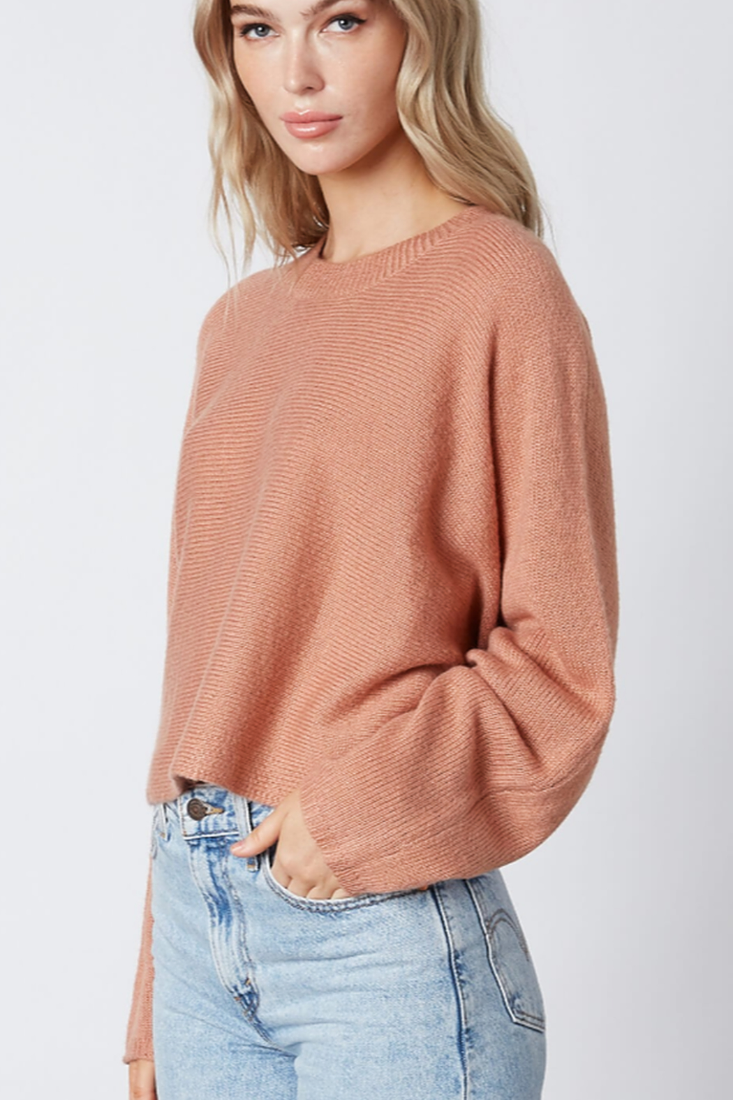 Cotton Candy  Crew Neck Sweater - Front Full Image