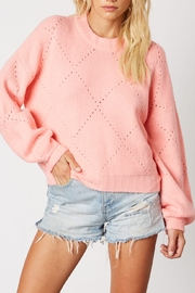 Cotton Candy Crew Neck Sweater - Front cropped