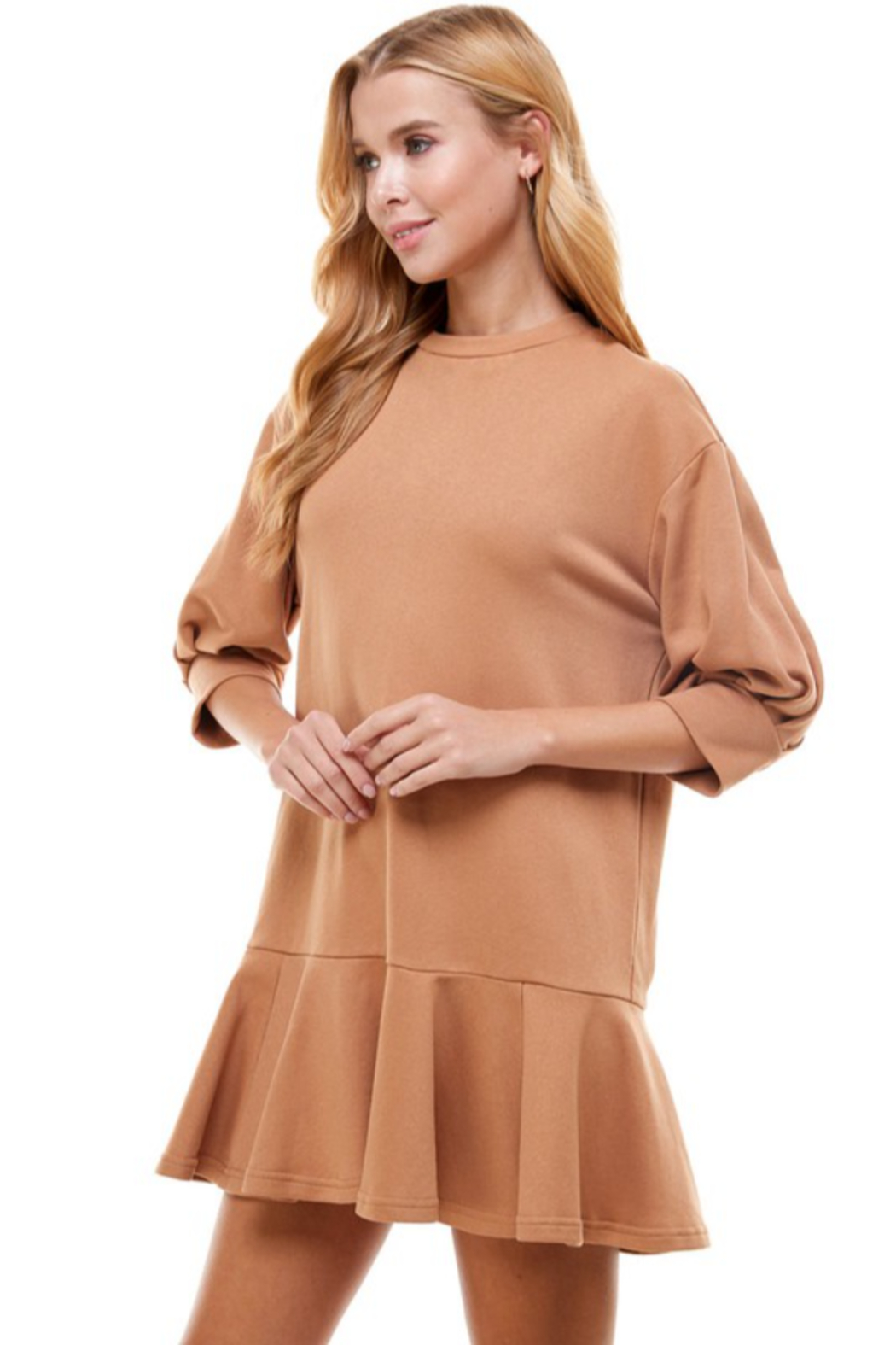TCEC Crew Neck Sweatshirt Dress - Front Full Image